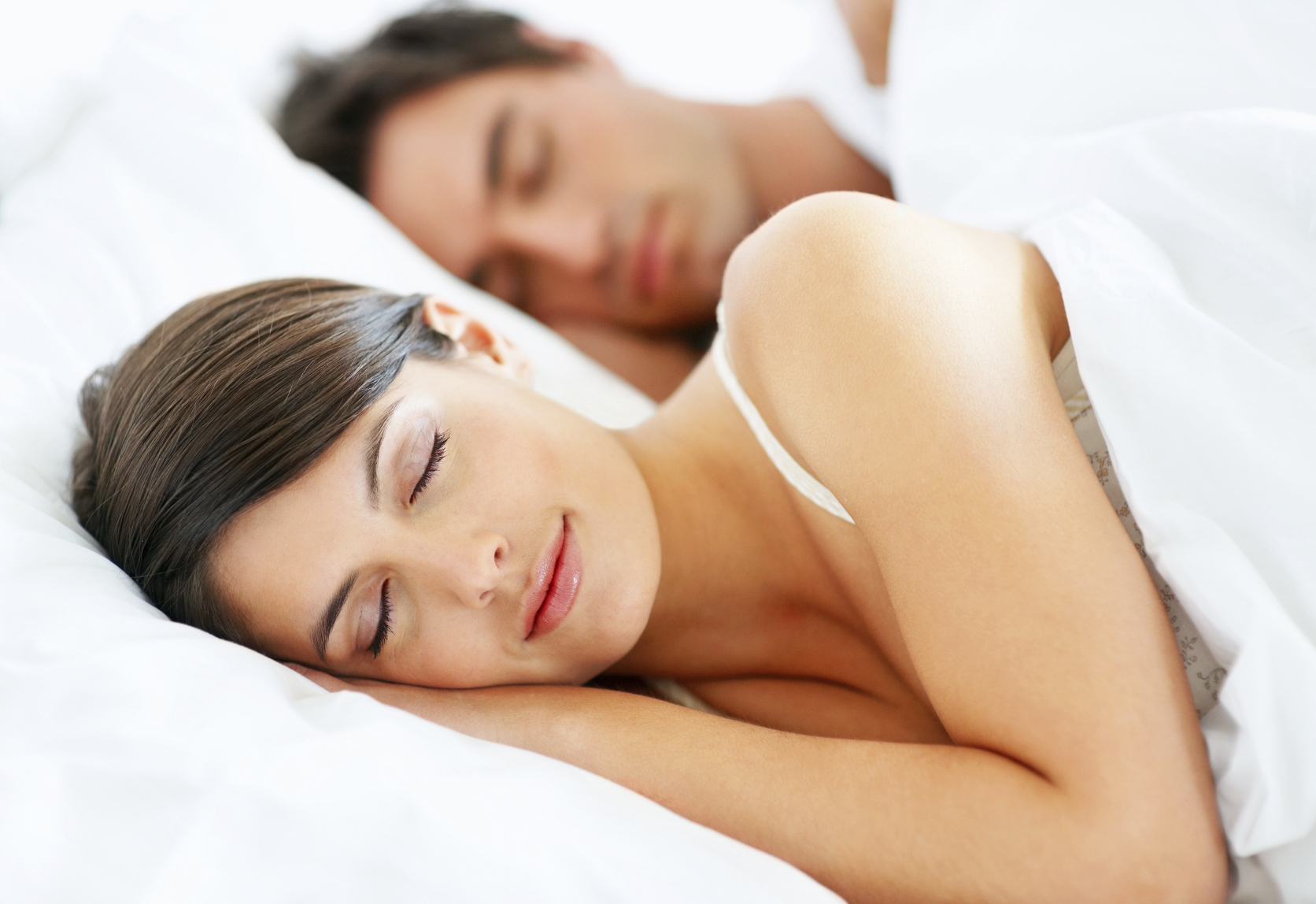 Womenman-sleeping
